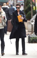 ANNE HATHAWAY Out and About in New York 01/27/2017