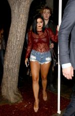 ARIEL WINTER in Cut-off Leaves Peppermint Club in West Hollywood 01/10/2017