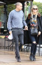 ASHLEE SIMPSON and Evan Ross Out in Sherman Oaks 01/12/2017