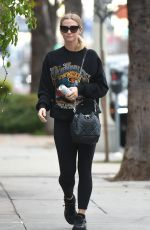 ASHLEE SIMPSON Heading to a Gym in Los Angeles 01/04/2017