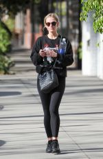 ASHLEE SIMPSON in Tights Out in Los Angeles 01/17/2017
