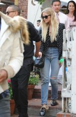 ASHLEE SIMPSON Leaves Ivy Restaurant in Los Angeles 01/13/2017