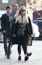 ASHLEE SIMPSON Out and About in Los Angeles 01/20/2017