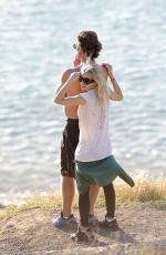 ASHLEY OLSEN and Boyfriend on the Beach in St. Barth 01/01/2017