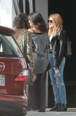 ASHLEY TISDALE and VANESSA HUDGENS Out for Lunch in Los Angeles 01/15/2017