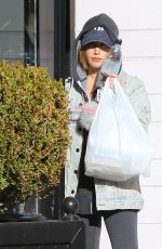 ASHLEY TISDALE Leaves a Hair Salon in Studio City 01/23/2017
