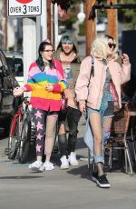 BELLA and DANI THORNE Out with Friends in Santa Monica 01/30/2017