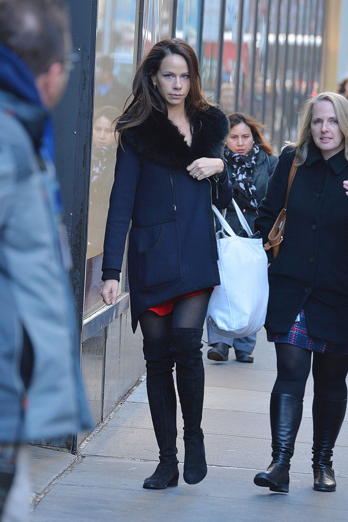 BARBARA BUSH Out and About in New York 01/11/2017