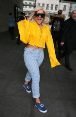 BEBE REXHA Leaves BBC Radio 1 in London 01/30/2017