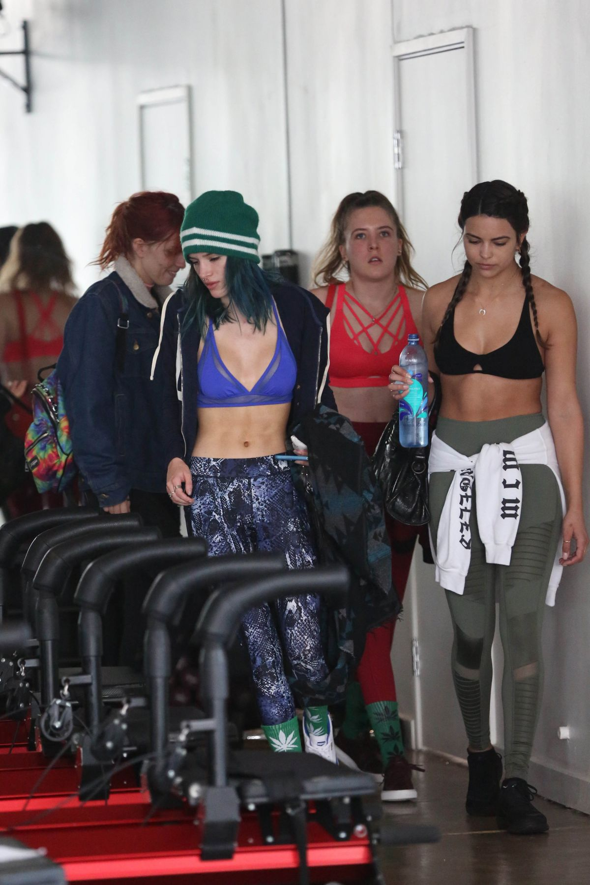 BELLA and DANI THORNE at a Gym in Los Angeles 01/05/2017