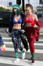 BELLA and DANI THORNE in Tank Tops Leaves a Workout in Los Angeles 01/05/2017