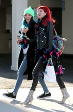 BELLA and DANI THORNE Leaves a Hair Salon in Los Angeles 01/16/2017