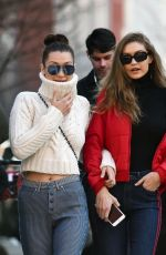 BELLA and GIGI HADID Out with Their Mother in New York 01/29/2017