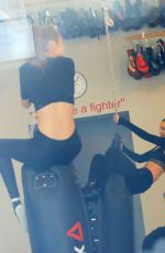 BELLA and GIGI HADID Working out at Gotham Gym in New York 01/15/2017