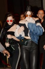 BELLA HADID and KENDALL JENNER at Heritage Nnightclub in Paris 01/24/2017
