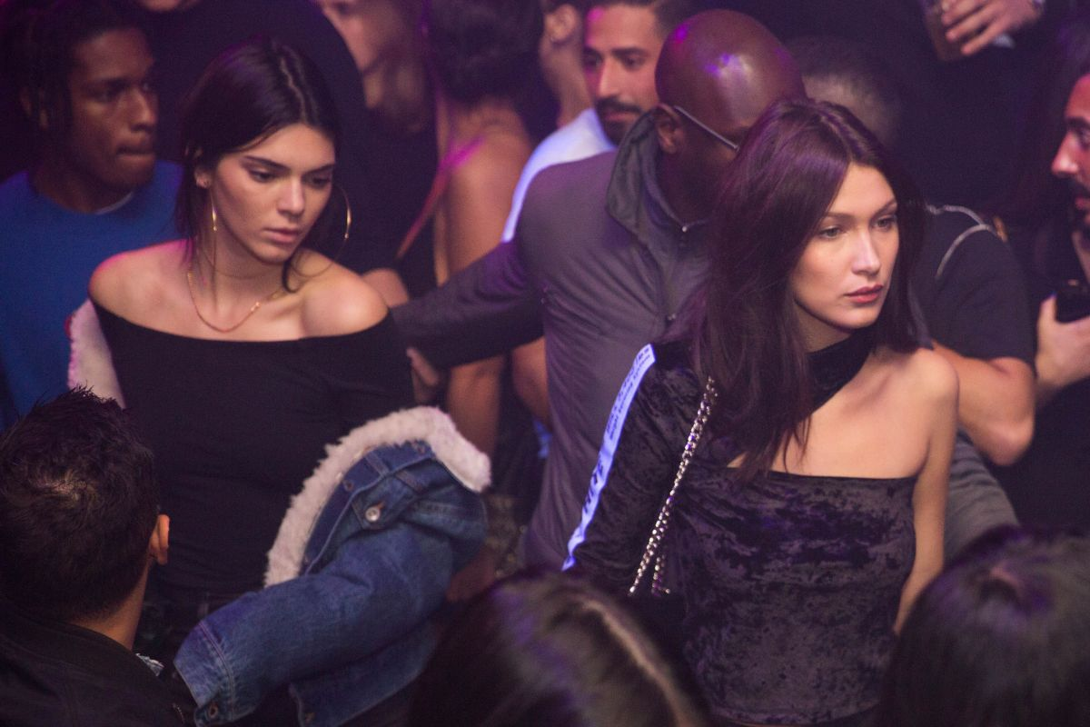 bella hadid and kendall jenner at heritage nnightclub in