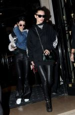 BELLA HADID and KENDALL JENNER Night Out in Paris 01/24/2017