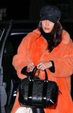 BELLA HADID Arrives Back in New York from Paris 01/27/2017
