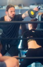 BELLA HADID at a Gym in New York 01/15/2017
