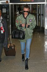 BELLA HADID at JFK Airport in New York 01/12/2017