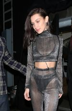 BELLA HADID at Nice Guy in West Hollywood 12/31/2016