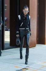 BELLA HADID Leaves Her Apartment in New York 01/15/2017