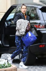 BELLA HADID Out and About in Beverly Hills 01/04/2017