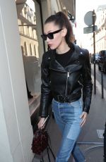 BELLA HADID Out and About in Paris 01/21/2017