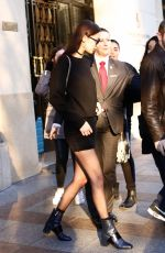 BELLA HADID Out and About in Paris 01/22/2017