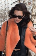 BELLA HADID Out and About in Paris 01/27/2017