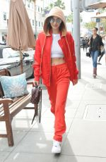 BELLA HADID Out for Lunch at Il Pastaio in Beverly Hills 01/03/2017