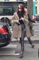 BELLA HADID Out for Shopping in Paris 01/23/2017