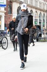 BELLA HADID Out in New York 01/28/2017