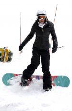 BETHENNY FRANKEL Snowboarding on Her Holiday in Aspen 12/25/2016