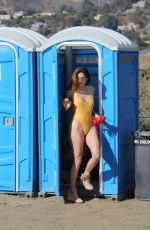 BLANCA BLANCO in Swimsuit on the Set of a Photoshoot at a Beach in Malibu 01/01/2017