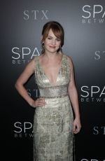 BRITT ROBERTSON at 'The Space Between Us' Premiere in Los Angeles 01/17/2017