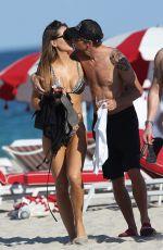 BRITTNY WARD and Jenson Button at a Beach in Miami 01/19/2017