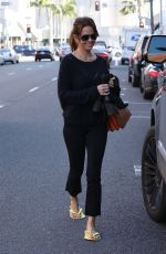 BROOKE BURKE Leaves a Nail Salon in Beverly Hills 01/19/2017