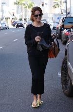 BROOKE BURKE Out and About in Beverly Hills 01/19/2017