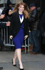 BRYCE DALLAS HOWARD Arrives at Good Morning America in New York 01/16/2017