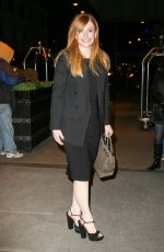 BRYCE DALLAS HOWARD Arrives at Tonight Show Starring Jimmy Fallon in New York