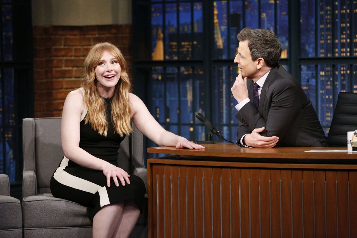 BRYCE DALLAS HOWARD at Late Night with Seth Myers in New York 01/25/2017