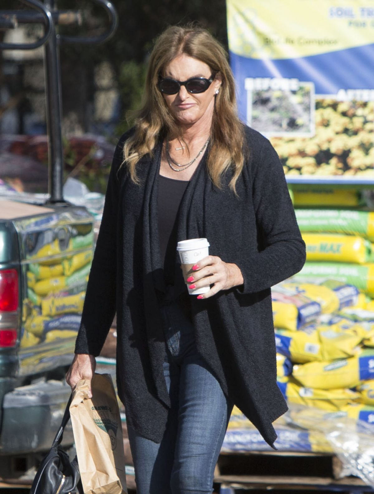 CAITLYN JENNER Out for Shopping in Malibu 01/13/2017