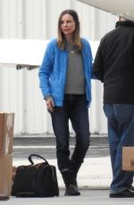 CALISTA FLOCKHART at LAX Airport in Los Angeles 01/02/2017