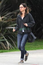 CALISTA FLOCKHART Out and About in Los Angeles 01/14/2017