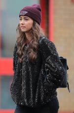CANDY RAE-FLEUR Arrives at Old Trafford in Manchester 01/15/2017