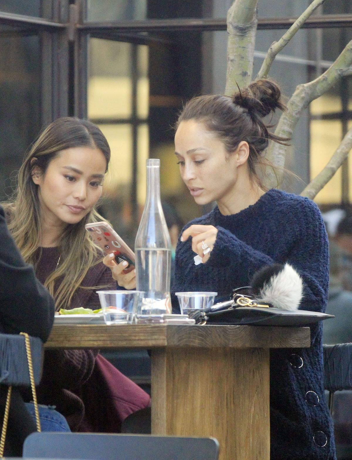 CARA SANTANA and JAMIE CHUNG Out for Lunch in West Hollywood 01/26/2017