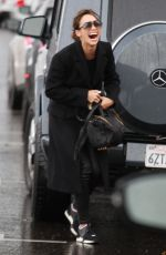 CARA SANTANA Out on a Rainy Day in Beverly Hills 01/07/2017