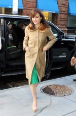 CARLA GUGINO Arrives at AOL Studios in New York 01/26/2017