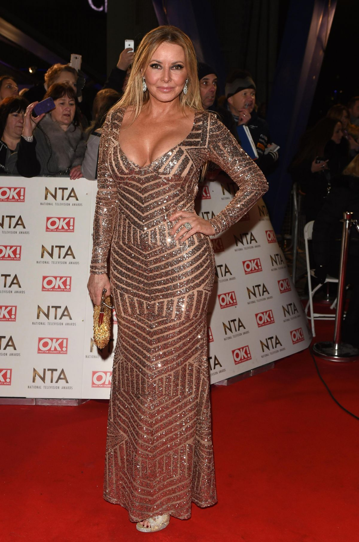 CAROL VORDERMAN at National Television Awards in London 01/25/2017
